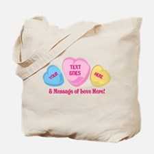 Personalized Candy Heart Valentine Special Tote Ba