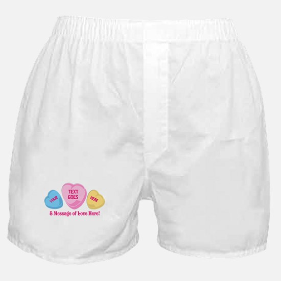 Personalized Candy Heart Valentine Special Boxer S
