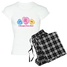 Personalized Candy Heart Valentine Special Pajamas