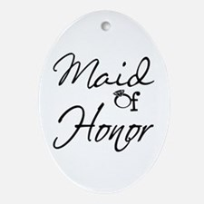 Maid of Honor Ornament (Oval)