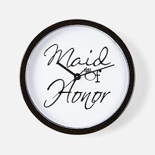 Maid of Honor Wall Clock