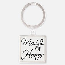 Maid of Honor Square Keychain