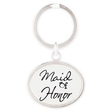 Maid of Honor Oval Keychain