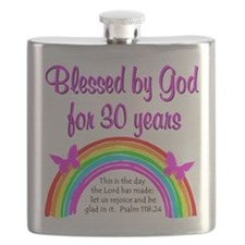 BLESSED 30TH Flask