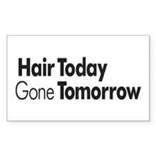 Hair Today Rectangle Decal