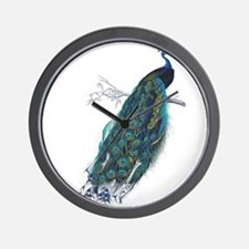 Vintage peacock Wall Clock