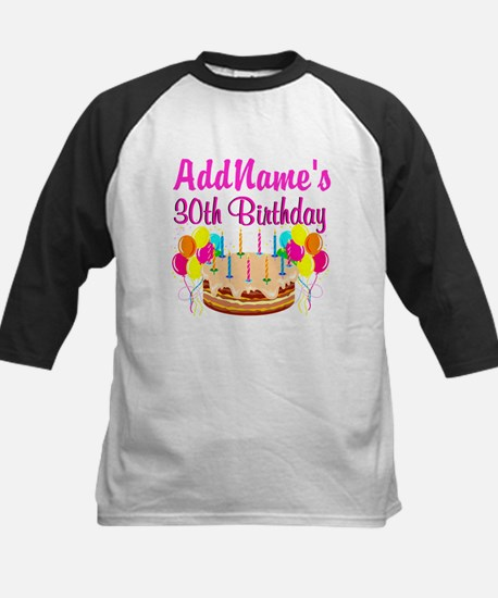 FABULOUS 30TH Kids Baseball Jersey