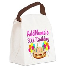 FABULOUS 30TH Canvas Lunch Bag
