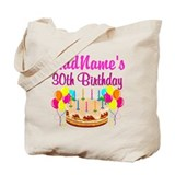 30th birthday Regular Canvas Tote Bag