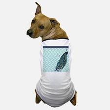 Peacock mint quatrefoil Dog T-Shirt