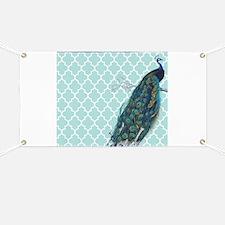 Peacock mint quatrefoil Banner