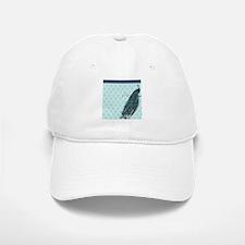 Peacock mint quatrefoil Baseball Baseball Cap