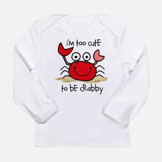 Too Cute Crab Long Sleeve T-Shirt