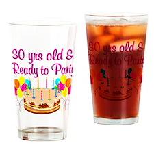 DAZZLING 30TH Drinking Glass