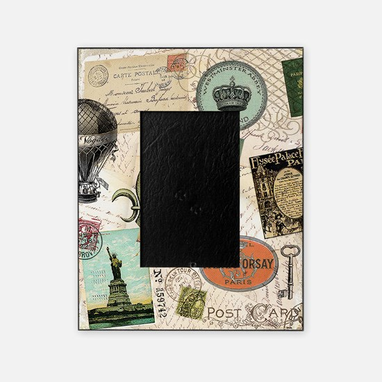 Vintage Travel collage Picture Frame