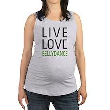 Live Love Bellydance Maternity Tank Top