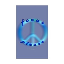 Focus Please Rectangle Decal