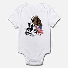 Basset Hound Flag Infant Bodysuit