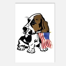 Basset Hound Flag Postcards (Package of 8)