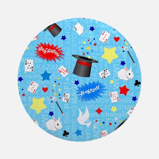 Blue Magician pattern Ornament (Round)