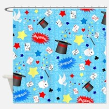 Blue Magician pattern Shower Curtain