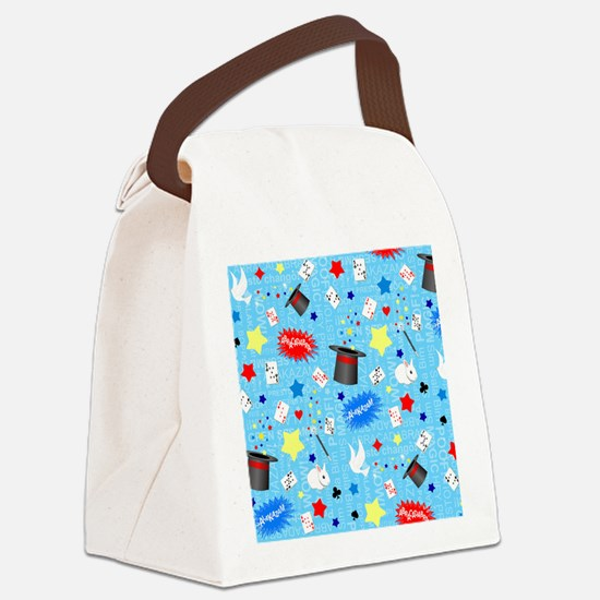 Blue Magician pattern Canvas Lunch Bag