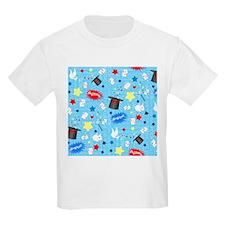 Blue Magician pattern T-Shirt