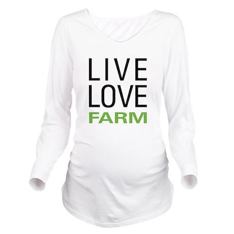 Live Love Farm Long Sleeve Maternity T-Shirt
