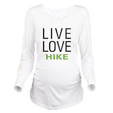 livehike.png Long Sleeve Maternity T-Shirt