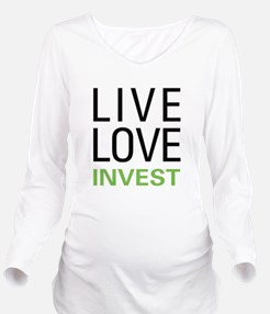liveinvest.png Long Sleeve Maternity T-Shirt
