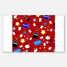 Red Magic Show magician pattern Decal