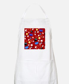 Red Magic Show magician pattern Apron