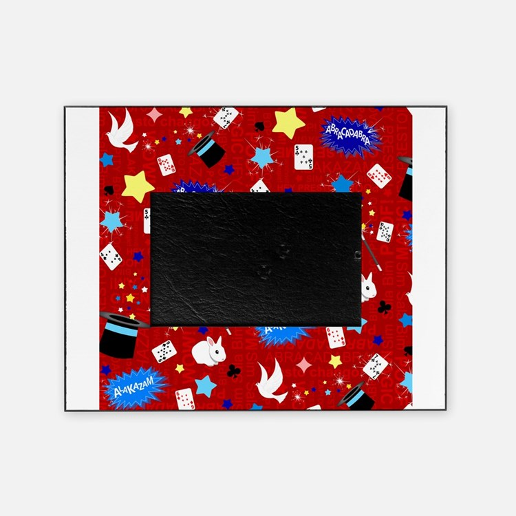 Red Magic Show magician pattern Picture Frame