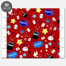 Red Magic Show magician pattern Puzzle