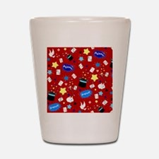 Red Magic Show magician pattern Shot Glass