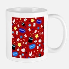 Red Magic Show magician pattern Mugs