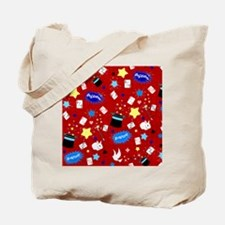 Red Magic Show magician pattern Tote Bag