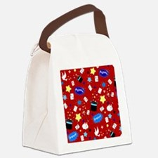 Red Magic Show magician pattern Canvas Lunch Bag