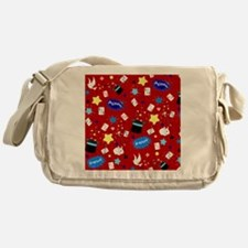 Red Magic Show magician pattern Messenger Bag