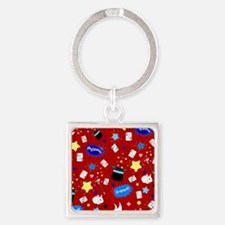 Red Magic Show magician pattern Keychains