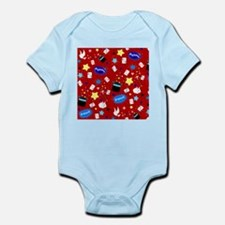 Red Magic Show magician pattern Body Suit