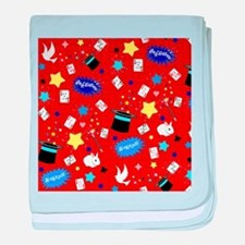 Red Magic Show magician pattern baby blanket