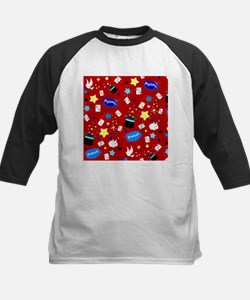Red Magic Show magician pattern Baseball Jersey