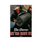 Tin can sailor Rectangle Magnet