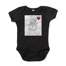 Flying Valentine Baby Bodysuit