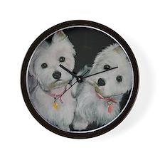 Mackie and Molly Wall Clock