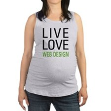 livewebd.png Maternity Tank Top