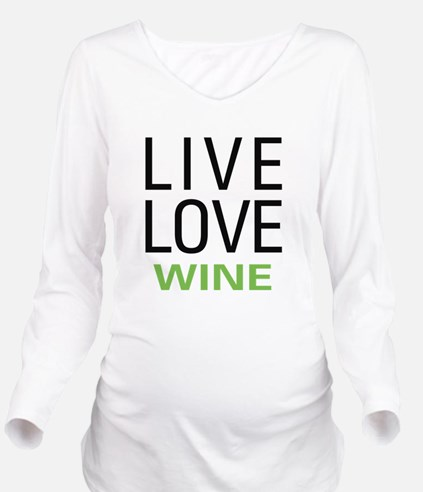 livewine.png Long Sleeve Maternity T-Shirt