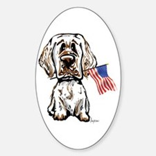 4th of July Clumber Oval Decal