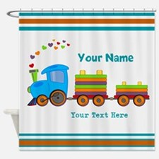 Custom Kids Train Shower Curtain